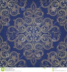 Victorian Design Vector Seamless Pattern In Victorian Style Royalty Free Stock