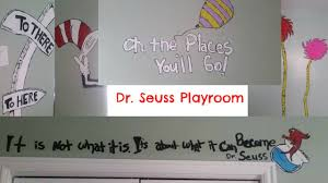 Dr Seuss Nursery Wall Decals by How To Paint A Dr Seuss Mural In A Playroom Youtube