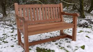 garden and patio diy solid wood picnic table with attached bench