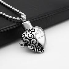 cheap cremation jewelry 316l stainless steel cremation jewelry memorial ashes urn necklace