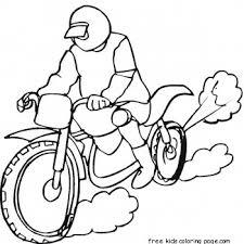 racing motorbike coloring free printable coloring pages for kids