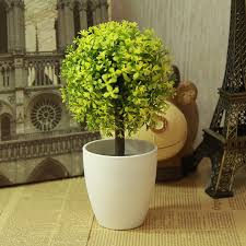 artificial topiary tree plants in pot colorful flower