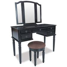 Black Vanity Table With Mirror Vanities And Benches Amercian Furniture Warehouse Afw