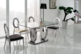 Modern Glass Dining Room Tables Glass Topped Dining Room Tables