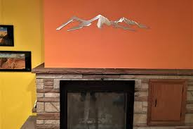 Mountain Cabin Decor Longs Peak 14 259 Feet Colorado 14er Metal Wall Art Mountain