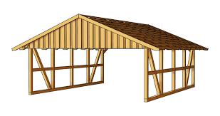 carport gable roof wood kvh garden house wood shop