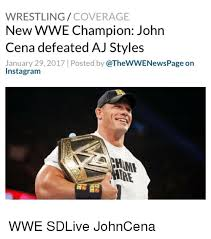 Aj Styles Memes - wrestling coverage new wwe chion john cena defeated aj styles