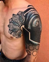 shoulder chest chest shoulder and