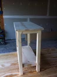 Plans For A Simple End Table by The Quaint Cottage Diy Simple End Table For Small Spaces