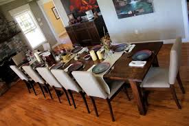 Fabric Chairs For Dining Room A Classical Touch Of Dining Room With Farm Table Design Dining