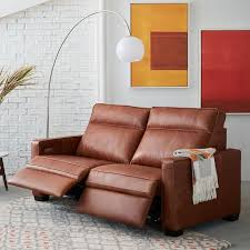 Electric Reclining Leather Sofa Henry Leather Power Recliner Sofa 77 West Elm