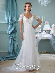 informal wedding dresses mon cheri enchanting 116139 flutter sleeve informal wedding dress