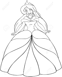 vector illustration coloring page of a beautiful caucasian