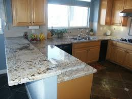 oak kitchen ideas bathroom cozy alaskan white granite for modern countertop