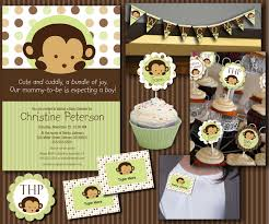 monkey invitations baby shower monkey baby shower essentials printables collection