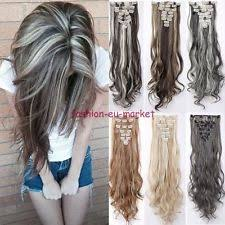 hair clip extensions women s curly human hair clip in extensions ebay