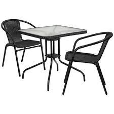 Black And White Patio Furniture Modern Outdoor Furniture Emfurn