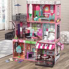 kidkraft brooklyn u0027s loft dollhouse for girls 65922 salsa and gigi