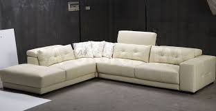 White Leather Sofa Ikea by Cream L Leather Floating Sofa On Grey Carpet Of Minimalist White