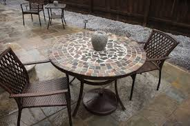 Replacement Glass Table Top For Patio Furniture Tile Top Dining Table How To Make A Tilemosaic Tabletop Tiled