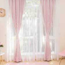girls bedding and curtains floral embroidered sheer curtains for girls bedroom