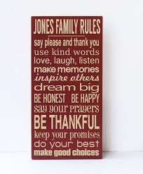 perfect personalized family rules wall art 21 on fetco home decor