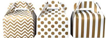 polka dot boxes gold stripe chevron and polka dot favor boxes gable box 36 gb