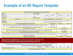 8d report template 8d problem solving technique tools powerpoint