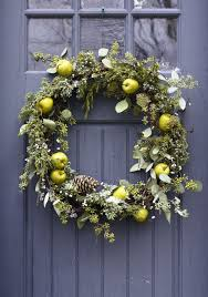 decorative wreaths for the home sweet front door christmas decoration featuring hanging rounded