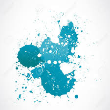 abstract blue watercolor splash royalty free cliparts vectors