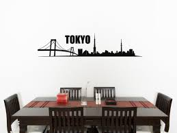 wall decals stickers home decor home furniture diy tokyo skyline living room dining kitchen bedroom decal wall art sticker picture