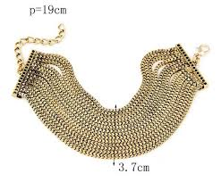 gold multi chain bracelet images Fashion multi chain bracelet gold silver wide multi layer chain jpg