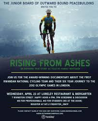 from ashes outward bound center for peacebuildingevent screening of rising