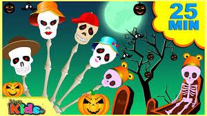 scary skeleton finger family song nursery rhymes for children