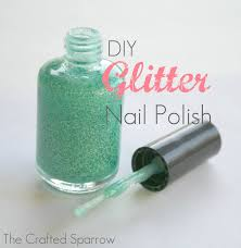 diy glitter nail polish the crafted sparrow