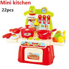 jeux de cuisine pour fille 22 pcs ensemble vente chaude en plastique miniature cuisine cuisine