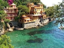 holiday portofino italy houses on sea coast