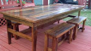 farm tables with benches ana white rustic farm table benches diy projects