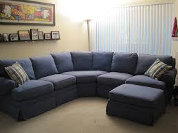 Comfortable Sectional Sofa Blue Microfiber Sectional Sofa Hotelsbacau Com