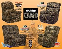 magnum heat massage mossy oak camouflage chaise rocker recliner by