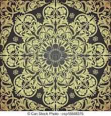 vectors illustration of damask seamless with baroque ornaments