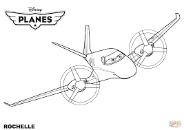 disney planes rochelle coloring page free printable coloring pages