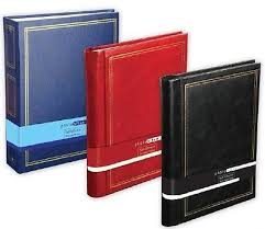 Large Leather Photo Albums Large Leather Look Self Adhesive Photo Album 20 Sheets 40 Sides