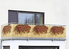 geranien balkon wenko sichtschutz geranien für balkon und terrasse weltbild de