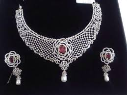 diamond necklace set images Bridal diamond necklace set at rs 1200000 piece diamond jpg