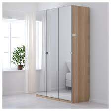 pax wardrobe white stained oak effect vikedal mirror glass