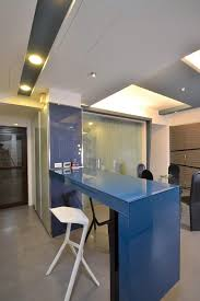 apartments blue glossy bar table with white barstool and marble