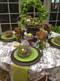 Easter Decorations For Garden by Easter Dinner Table Settings
