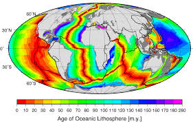 Map Of World Oceans by Muller Et Al 2008 Age Spreading Rates And Spreading Symmetry