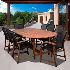 Aluminum Dining Room Chairs Dining - shop international home amazonia 9 piece brown aluminum dining